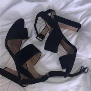Madewell Octavia Black Block Heel Sandals